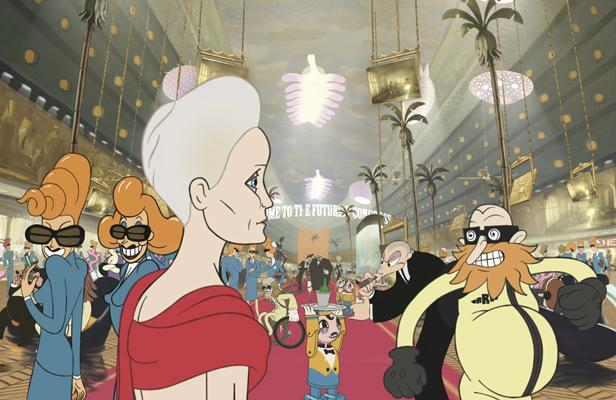 If Ralph Bakshi had created an animated Great Gatsby, it might look like this.